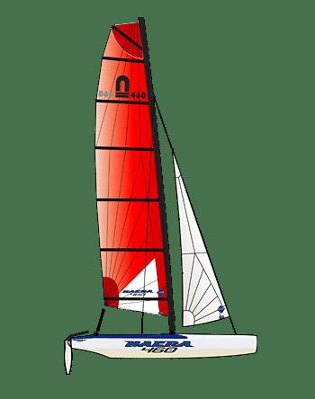Der Nacra 460 Fun ist das perfekte Familien Boot
